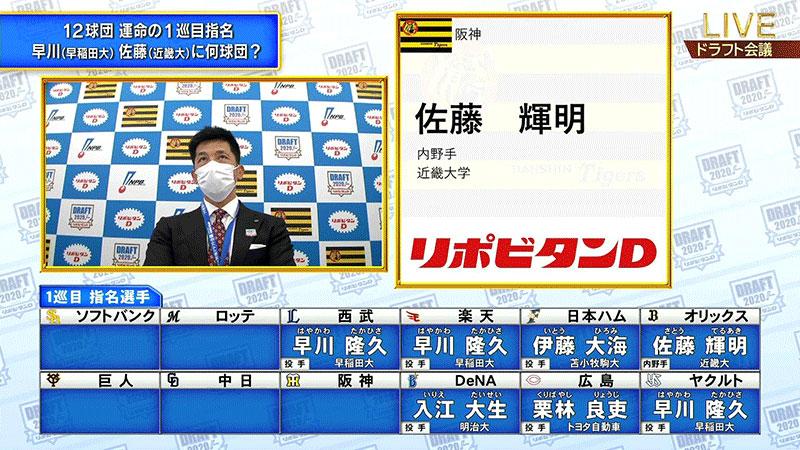 2020 ライブ ドラフト スポーツブルプロ野球ドラフト会議2020ライブカメラ(東京都港区高輪)